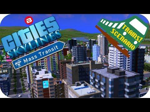 Cities Skylines Gameplay: FAILURE RISK Cities: Skylines MASS TRANSIT DLC TRAINS/MONORAIL SCENARIO #3
