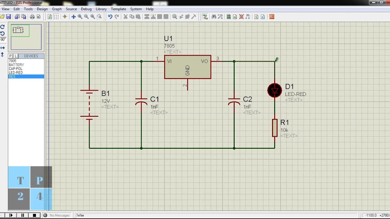 Proteus Simulation Software How To Create 5v Regulated Power Current Output Multiplier For 78xx Regulator Supply Using Ic 7805
