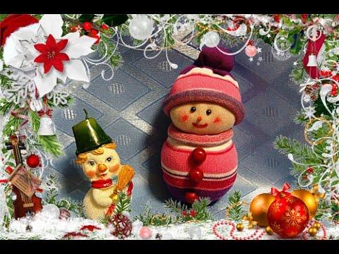Снеговик своими руками (поделка из носков) СНЕГОВИК СВОИМИ РУКАМИ