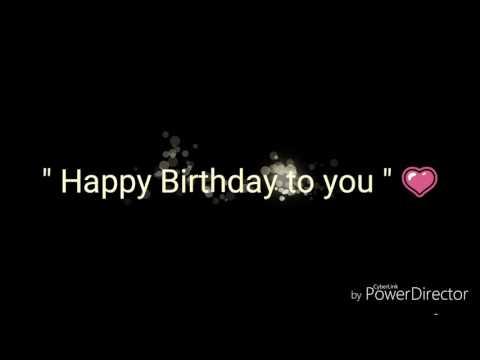 Selamat ulang tahun sayang