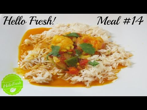 Hello Fresh Meal # 14   Palak's South Indian Shrimp Curry! + Promo Codes!