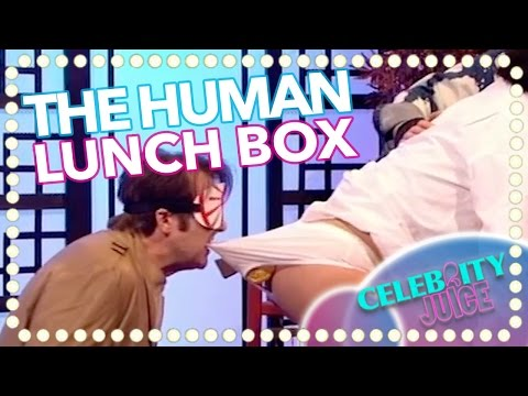 NEW: Jonathan Ross Gets A Mouth Full In 'The Human Lunch Box' | Celebrity Juice 2017