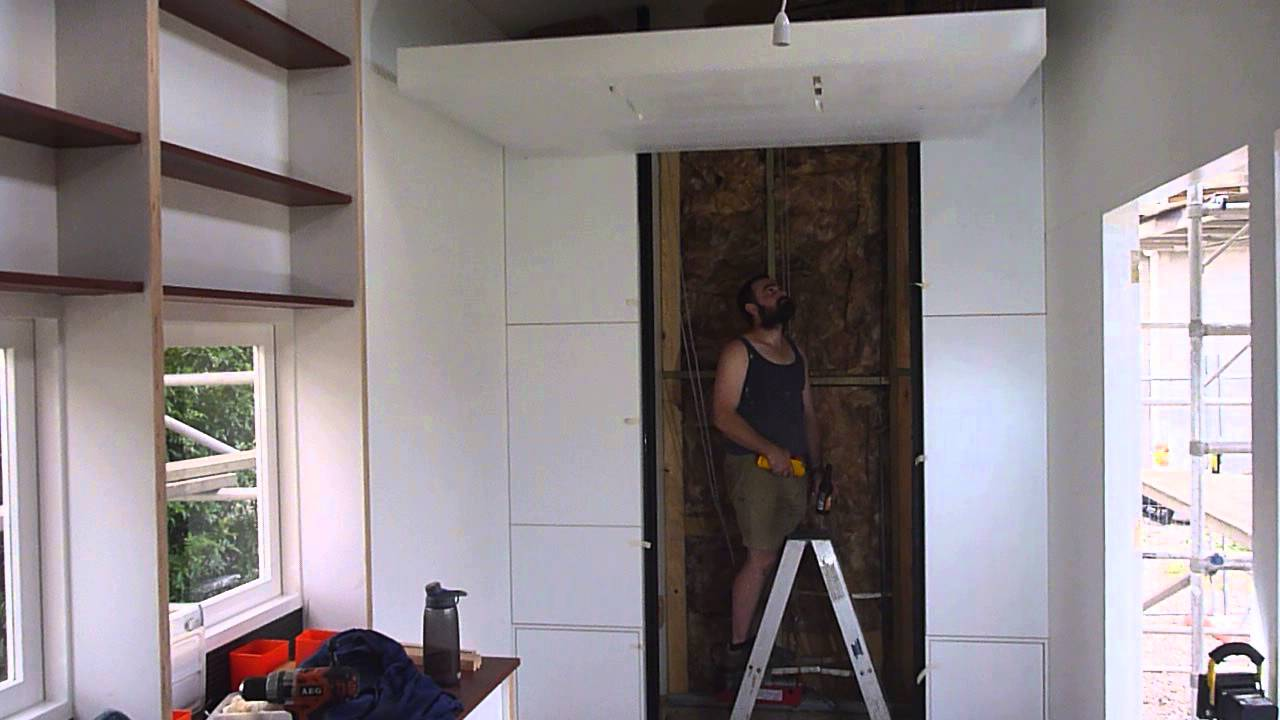 Tiny House Retractable Cantilever Bed 1 - YouTube