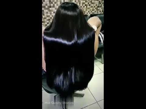 Sensational blackish shiny long hair beuty