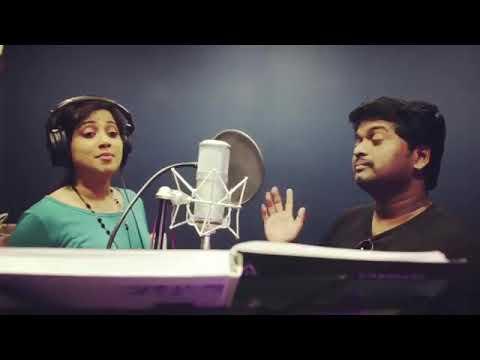 Shreya Ghoshal rehearsing in Recording...