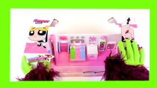 MONSTER unboxing of POWERPUFF GIRLS learning colors english fun toy slime play-doh