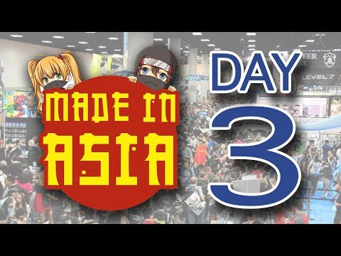 Made In Asia 2018 - DAY 3 - Workshops Tour Interviews Cosplay Cleanup - Diorama Builders