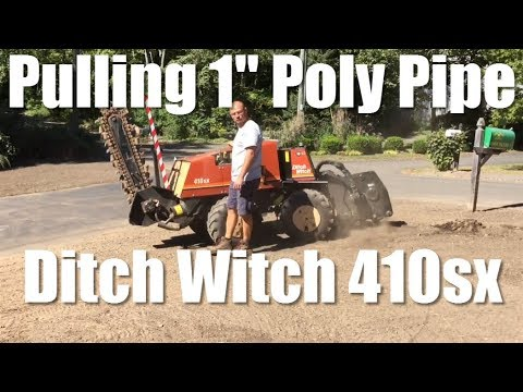 Ditch Witch 410sx Vibratory Plow Pulling 1