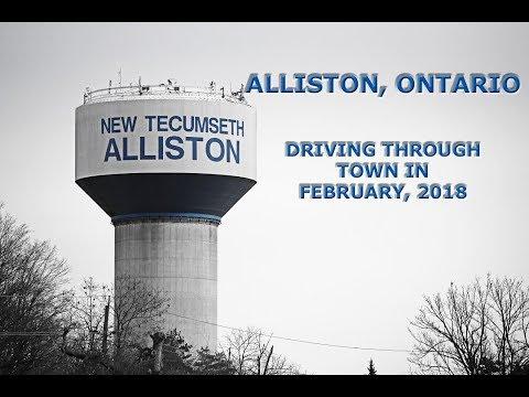 Alliston, Ontario: Driving Around Town (February 22, 2018)