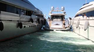 Yacht docking in St. Tropez