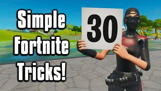 30 Simple Tips & Tricks Everyone MUST Know! - Fortnite Battle Royale