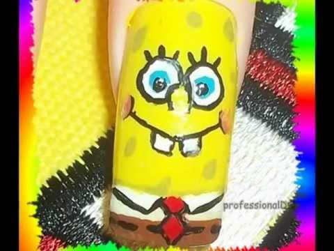 Spongebob Nail Art Youtube
