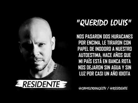 QUERIDO LOUIS (LETRA) - RESIDENTE (TIRAERA PA NK PROFETA)