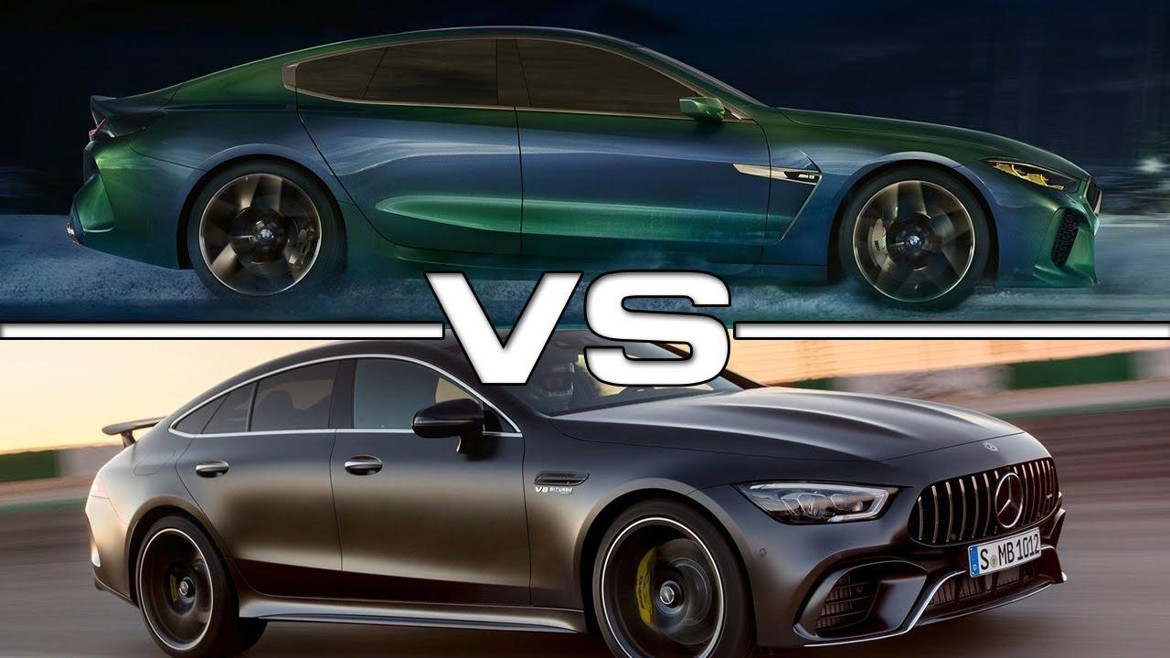 2019 bmw m8 gran coupe vs 2019 mercedes amg gt63 s 4 door