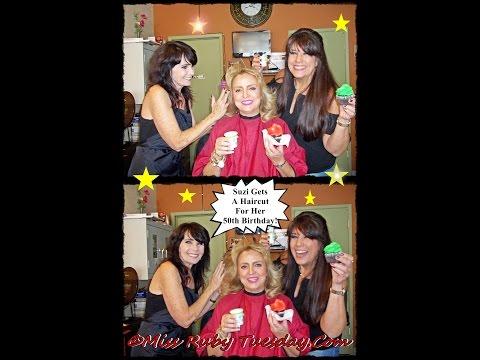 Suzy Gets The Farrah Fawcett Haircut For Her 50th Birthday