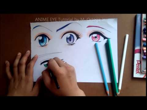 Anime Eyes Tutorial Using Colored Pencil By M Ortega Jr Youtube