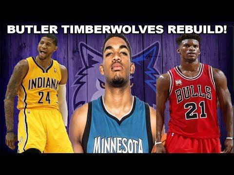 REBUILDING THE JIMMY BUTLER MINNESOTA TIMBERWOLVES - 5 SUPERSTARS! NBA 2K17 MYLEAGUE