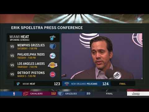 Erik Spoelstra -- Miami Heat at New Orleans Pelicans 02/23/2018