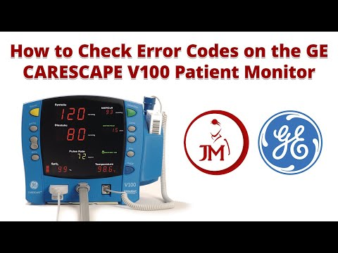 How To Check Error Codes On The GE CARESCAPE V100 Patient Monitor