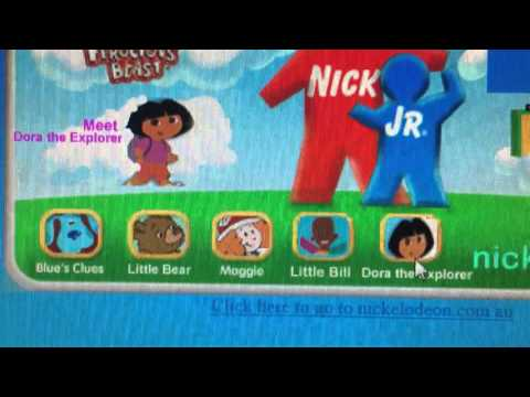 Nick Jr. Australia Website 2001