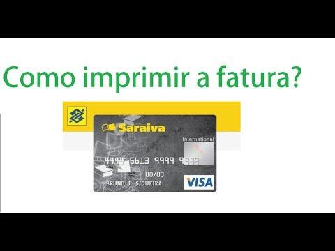 b8d1e6b6a Como imprimir a fatura do cartão Saraiva - YouTube
