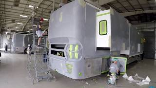 Our visit to the Tiffin RV Paint shop.