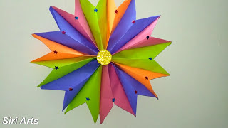Papercrafts:Christmas star with paper||How to make a Christmas star at home||how to make easy stars