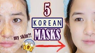 5 WEIRD KOREAN FACE MASKS YOU MUST TRY!!