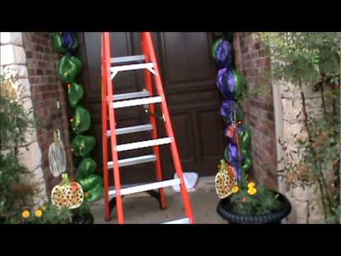 episode 46 decorating your front door for halloween - Deco Mesh Halloween Garland