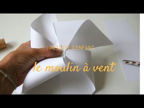 Tuto activit pour enfant fabriquer un moulin vent doovi - Comment fabriquer un moulin a vent en papier ...