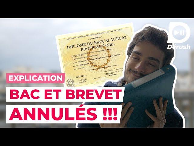 LE BAC ET LE BREVET ANNULÉS 😱 JE T'EXPLIQUE TOUT !