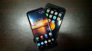 Samsung Galaxy S8 vs Iphone 7 plus speed test!