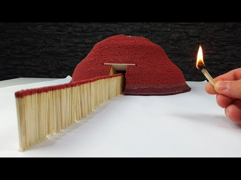 Match Chain Reaction VOLCANO ERUPTION Amazing Fire Domino