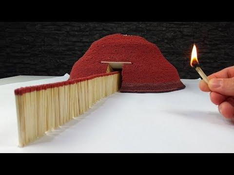 Match Chain Reaction VOLCANO ERUPTION Amazing Fire Domino