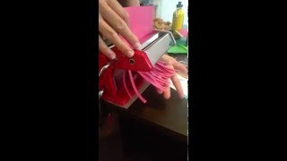 How To Cut Quilling Paper Strips With A Pasta Machine