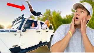 I Flipped Over a 60mph MOVING Car!