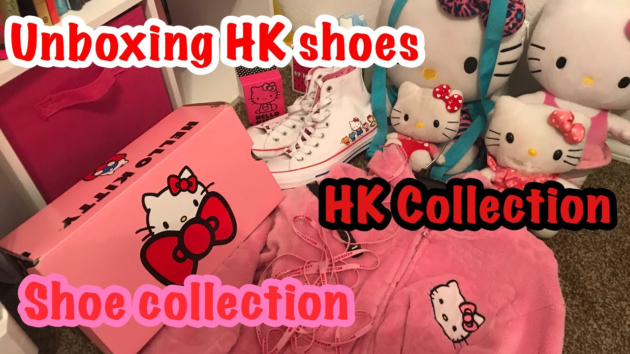 6a7616c99 Unboxing Hello Kitty converse / Try on   HK collection + Shoe ...