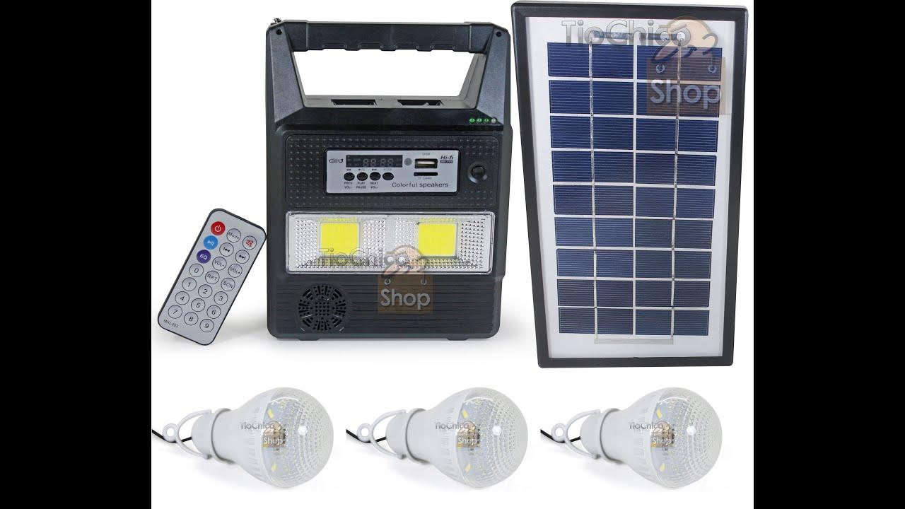 96ca8ed5ab3 Kit Iluminação Solar Com Rádio FM USB + 3 Lâmpadas led KH-8216 -  TioChicoShop