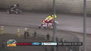 Knoxville Raceway 360 Highlights - April 20, 2019