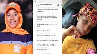 Ni aka fara yiwa barazana na bada kudi ko a saki videon tsiraicin Maryam Booth Inji Mansurah Isah