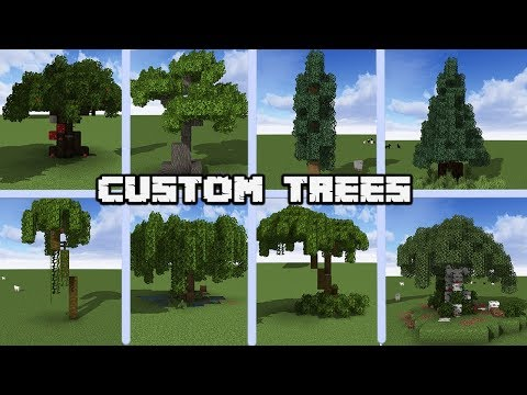 13 Custom Tree Designs For MINECRAFT 1.14 Vanilla [WORLD DOWNLOAD]