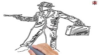 How to Draw a Gangster Easy Step By Step Drawing Tutorials for Kids – UCIDraw