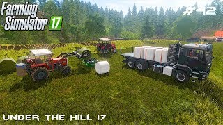 Wraping and selling bales    Under the Hill 17   Farming Simulator 2017   Episode 42