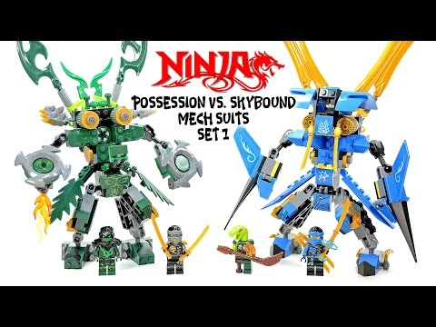 Ninjago Possession vs Skybound Mech Suit Unofficial LEGO Knockoff Set 1 Speed Build