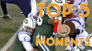 Top 5 Thanksgiving Day NFL Moments
