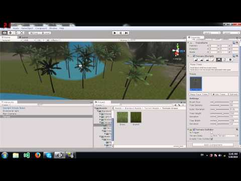 Unity Tutorial: Adding Trees and Grass to your Terrain