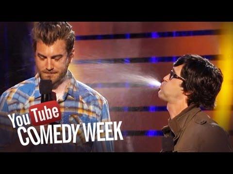 Rhett & Link #SpitTake Challenge - The Big Live Comedy Show Highlights - YouTube Comedy Week