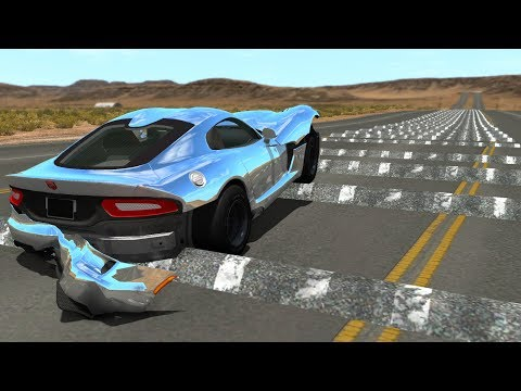 100+ Consecutive Speed Bumps High Speed Testing #11 - BeamNG DRIVE