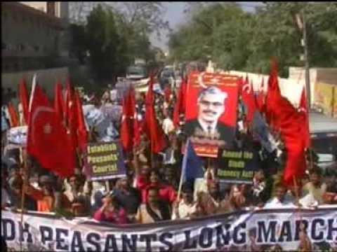 Sindh Peasants / Kissan / Harri Long March 2009 for the Land Rights organized by SAP  PK & SARAC