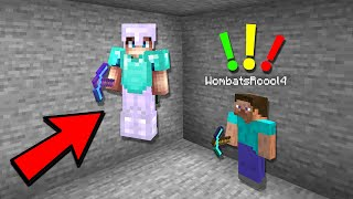 HE CAUGHT ME USING FLY HACKS IN MINECRAFT...